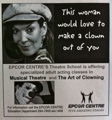 "ECPA theatre school ad - ""clown"""
