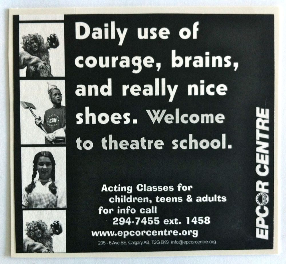 """ECPA theatre school advertising concept - """"nice shoes"""""""