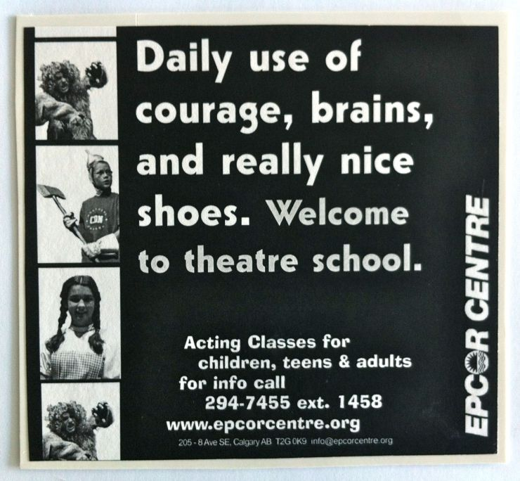 "ECPA theatre school advertising concept - ""nice shoes"""