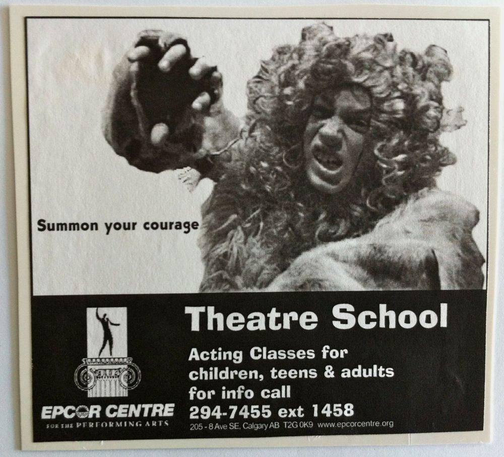 "ECPA theatre school advertising concept - ""courage"""