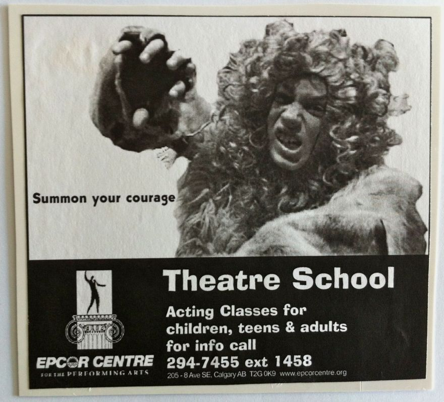 "ECPA theatre school advertising concept - ""courage"""