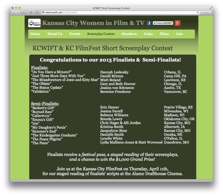 KCWIFT/ KC FilmFest 2013